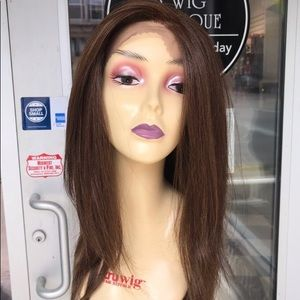 Brown 6X6 Freepart Swisslace Lacefront Wig